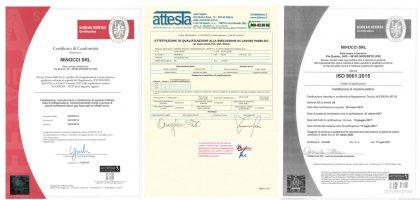 Certificati Minocci srl